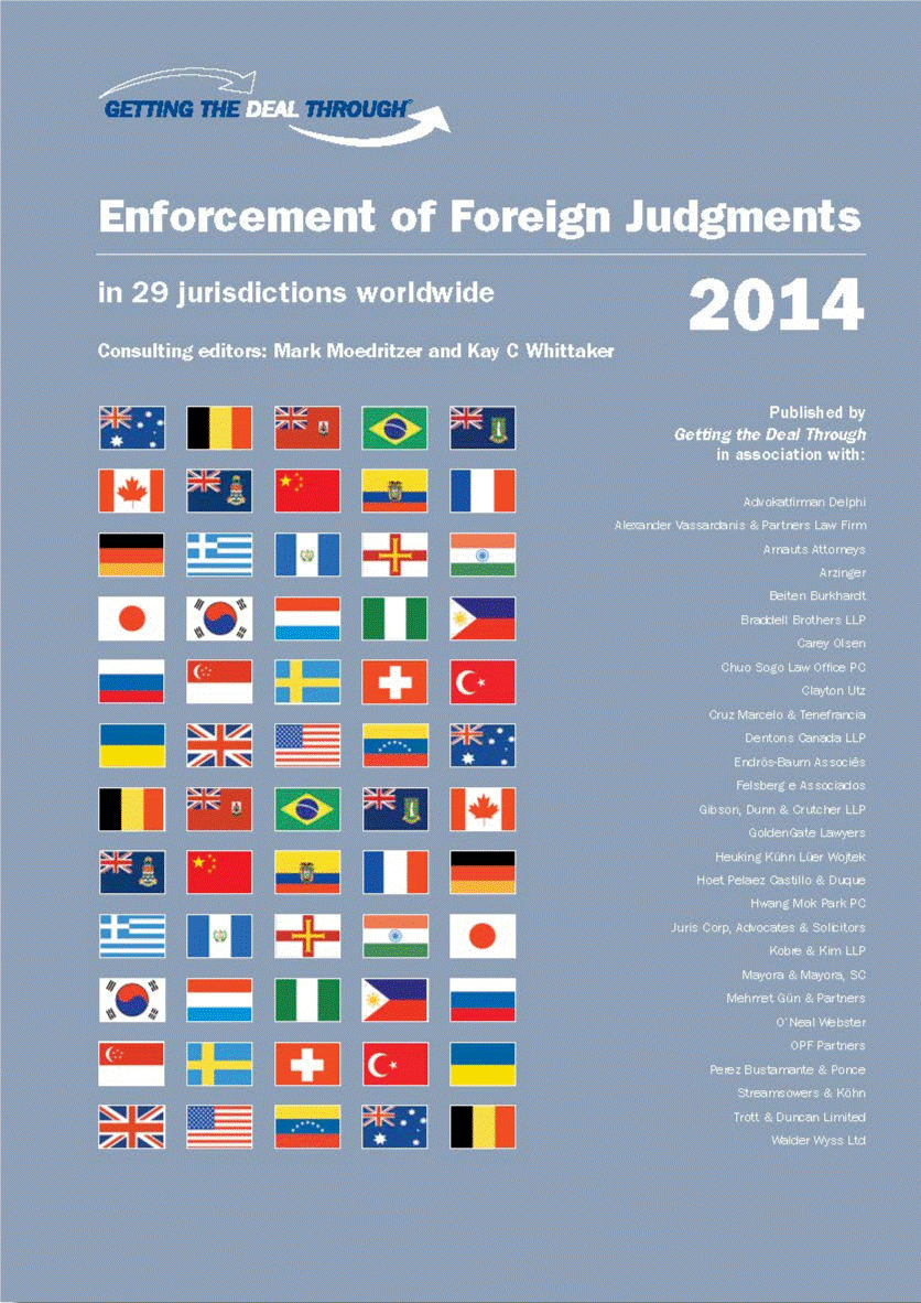 Getting The Deal Through – Enforcement of Foreign Judgments (2014) (GTDTシリーズ・外国判決の承認と執行)Japan(日本編)