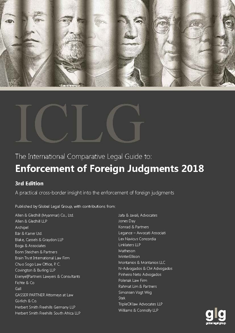 The International Comparative Legal Guide to: Enforcement of Foreign Judgments 2018 (3rd Edition)(ICLG 外国判決の承認と執行) Japan Chapter