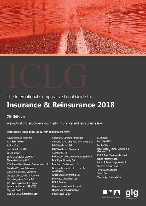The International Comparative Legal Guide to: Insurance & Reinsurance 2018 (7th Edition) (ICLG:保険&再保険) Japan Chapter (日本編)